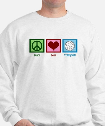 Peace Love Volleyball Sweater