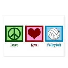 Peace Love Volleyball Postcards (Package of 8)
