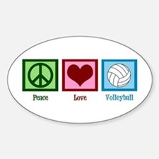 Peace Love Volleyball Decal