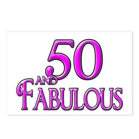 50 and Fabulous Postcards (Package of 8)
