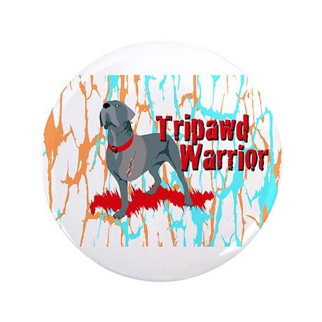 "Tripawd Warrior Bellona 3.5"" Button"