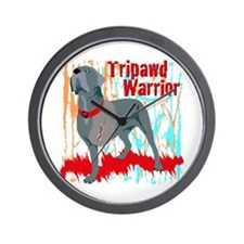 Tripawd Warrior Bellona Wall Clock