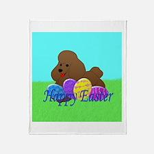 Brown Poodle Throw Blanket