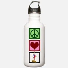 Peace Love Gymnastics Water Bottle