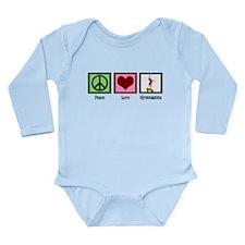 Peace Love Gymnastics Long Sleeve Infant Bodysuit