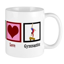 Peace Love Gymnastics Mug