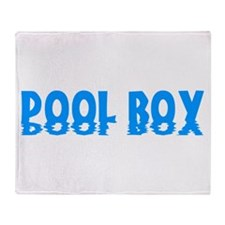 Pool Boy Throw Blanket