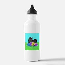 Black Pomeranian Water Bottle