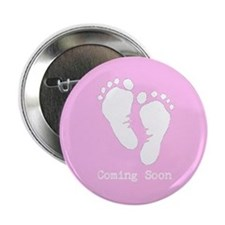 """New Baby Coming Soon 2.25"""" Button"""
