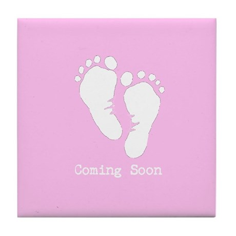 New Baby Coming Soon Tile Coaster
