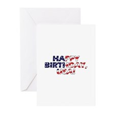 Happy Birthday USA Greeting Cards (Pk of 10)
