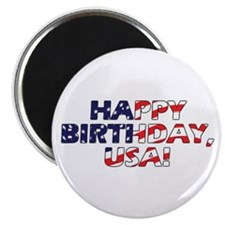 "Happy Birthday USA 2.25"" Magnet (10 pack)"