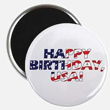 Happy Birthday USA Magnet