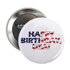 "Happy Birthday USA 2.25"" Button"