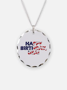 Happy Birthday USA Necklace