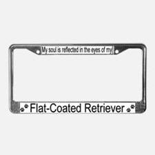 """Flat-Coated Retriever"" License Plate Frame"