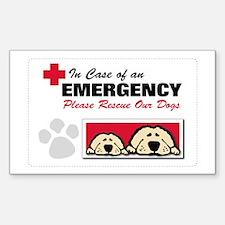 Please Rescue Dogs Rectangle Bumper Stickers