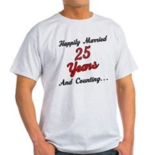 25th Anniversary Gift Married T-Shirt