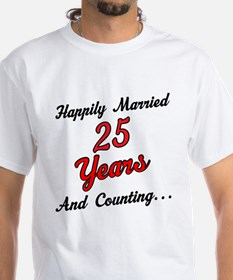 25th Anniversary Gift Married Shirt