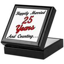 25th Anniversary Gift Married Keepsake Box