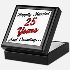 25th Anniversary Gift Married Keepsake Box