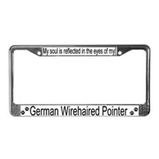 """German Wirehaired Pointer"" License Plate Frame"