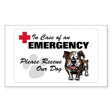 Save My Bulldog Rectangle Sticker