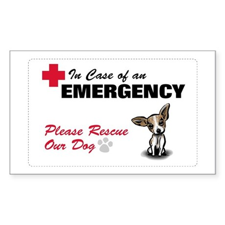 Save My Chihuahua Rectangle Sticker
