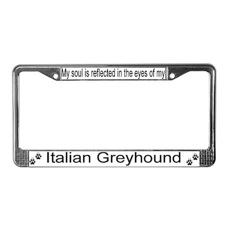 """Italian Greyhound"" License Plate Frame"
