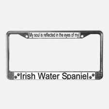 """Irish Water Spaniel"" License Plate Frame"