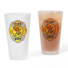 Fire Fighter Maltese Pint Glass