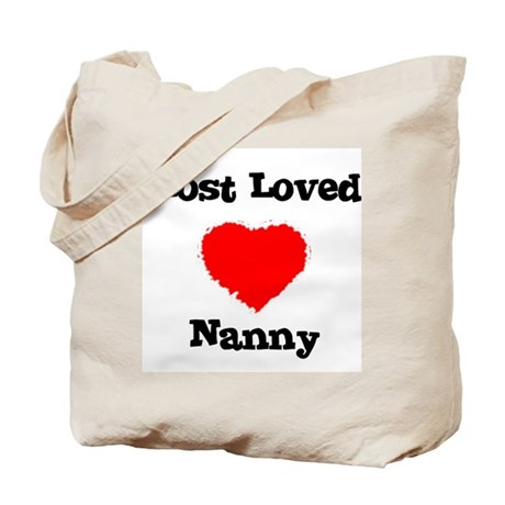 Most Loved Nanny Tote Bag