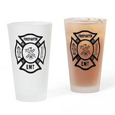 Firefighter EMT Drinking Glass