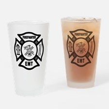 Firefighter EMT Drinking Glass
