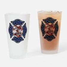 Firefighter USA Pint Glass