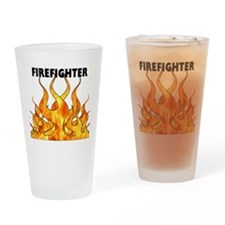 Firefighting Flames Pint Glass