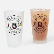 Future Firefighter Dalmatian Drinking Glass