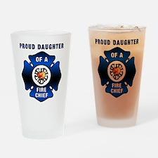 Fire Chiefs Daughter Drinking Glass