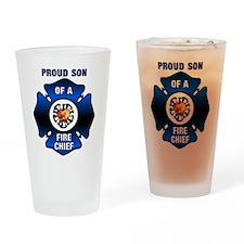 Fire Chief Son Blue Maltese Pint Glass