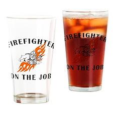 Firefighter Bulldog Pint Glass