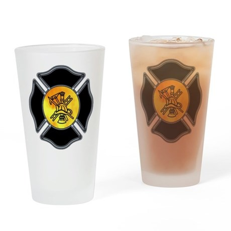 Fire Dept Maltese Pint Glass