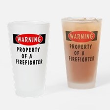 Property of a Firefighter Pint Glass