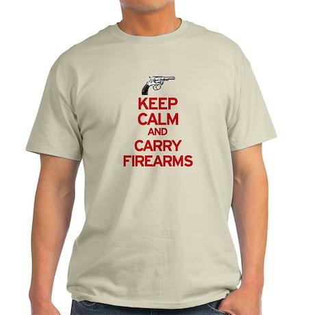 Keep Calm and Carry Firearms Light T-Shirt