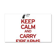 Keep Calm and Carry Firearms Car Magnet 12 x 20