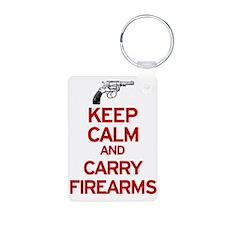 Keep Calm and Carry Firearms Keychains
