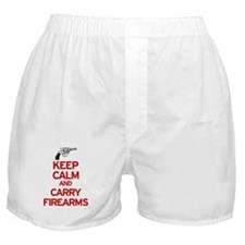 Keep Calm and Carry Firearms Boxer Shorts