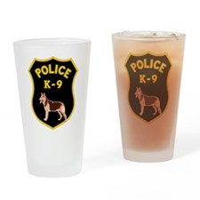 K9 Police Officers Drinking Glass