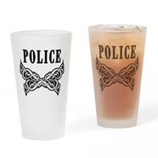 Police Tattoo Drinking Glass