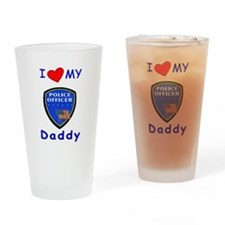 I Love Police Officer Daddy Pint Glass