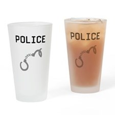 Police Handcuffs Pint Glass